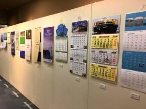 世界の船会社等カレンダー展(昨年の展示)