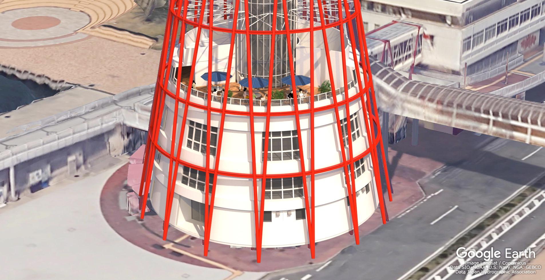 低層4階テラス外観(イメージ図)